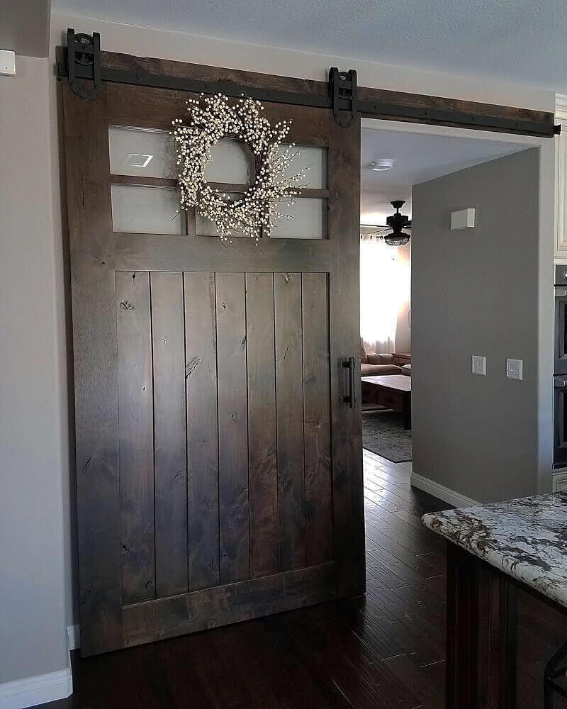 Coban Barn Door with our Horseshoe Hardware - Barn Doors ...